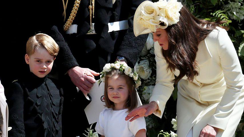 George & Charlottes Hochzeit-Outfits enthielten süße Details