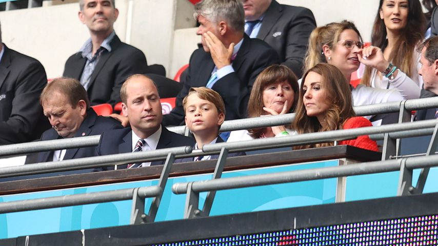 Prinz William, Prinz George und Herzogin Kate beim EM-Spiel