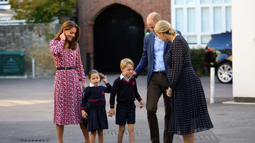 Prinz William mit Herzogin Kate und den beiden Kindern, September 2019
