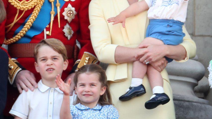 Prinz William und Herzogin Kate mit ihren Kids