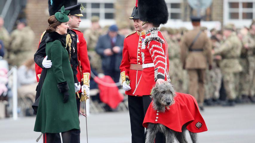 Ungewohnt zärtlich: So süß stützt Prinz William seine Kate!