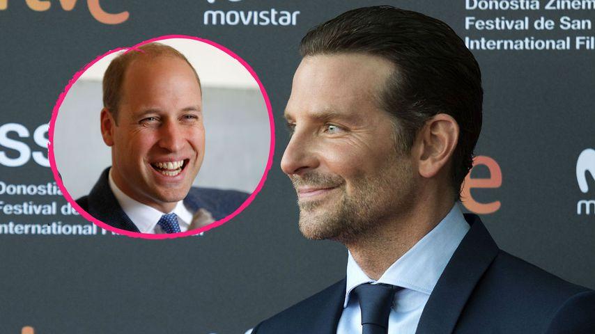 Bei BAFTAs: Bradley Cooper brachte Prinz William zum Lachen