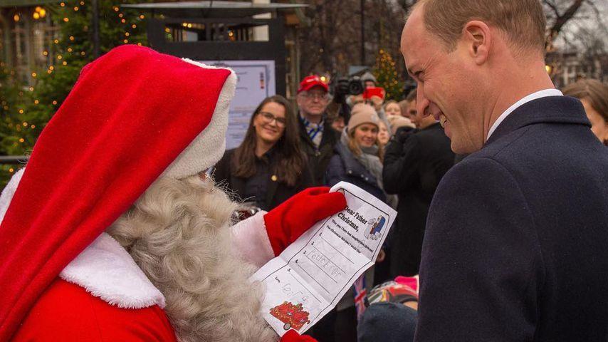 Süß! Prinz William gibt Santa Georges Wunschliste für Xmas!