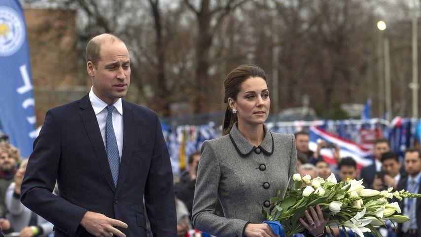 Prinz William und Herzogin Kate in Leicester