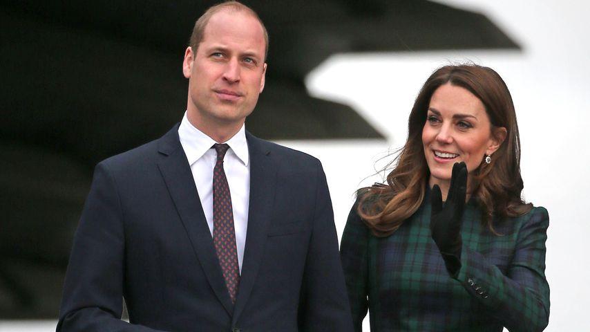 Prinz William und Herzogin Kate bei einem Besuch in Schottland