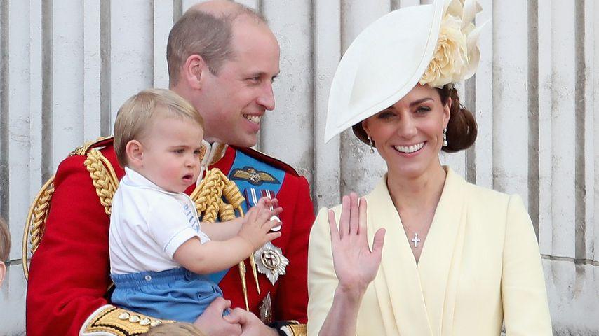 Prinz William und Herzogin Kate mit ihren Kindern Louis, George und Charlotte in London im Juni 2019