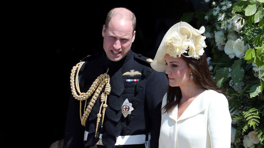Prinz William und Herzogin Kate mit ihren Kids bei der Royal Wedding im Mai 2018