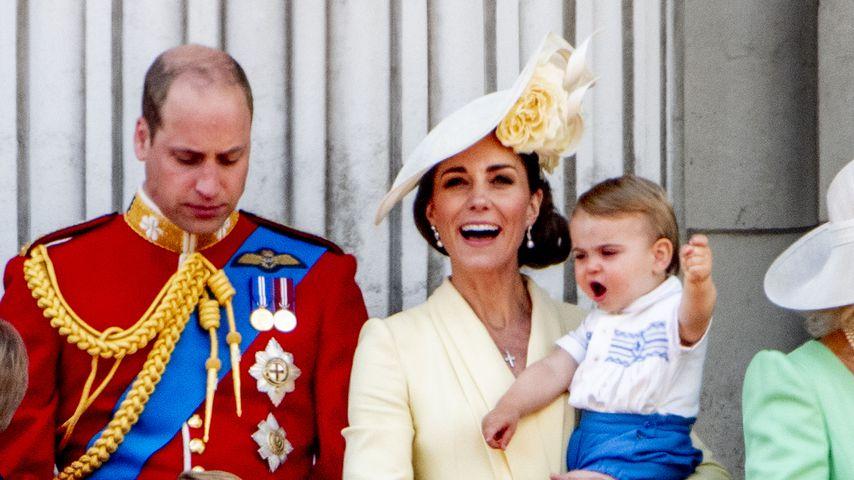 Prinz William und Herzogin Kate mit ihren Kindern