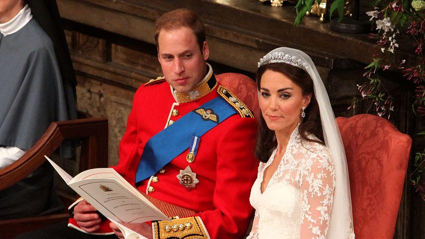 Prinz William und Herzogin Kate auf ihrer Hochzeit im April 2011