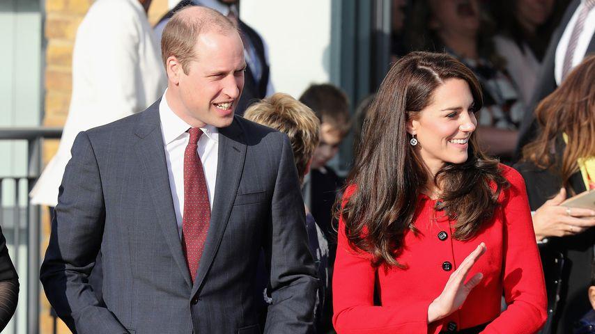 Prinz William und Herzogin Kate beim Verlassen einer Veranstaltung 2017