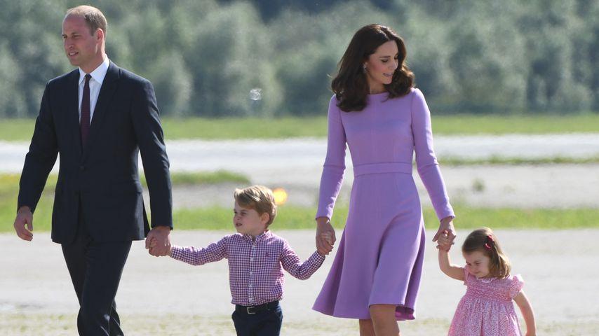 Prinz William und Kate mit George und Charlotte