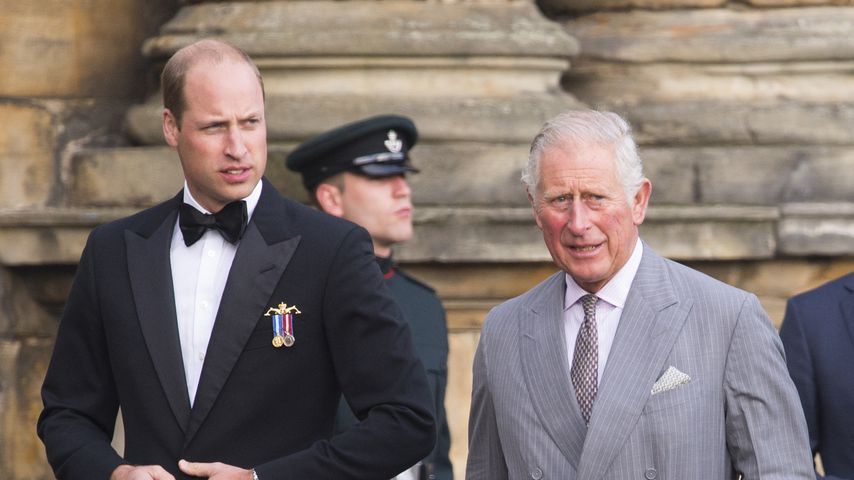 Prinz William und Prinz Charles in Edinburgh