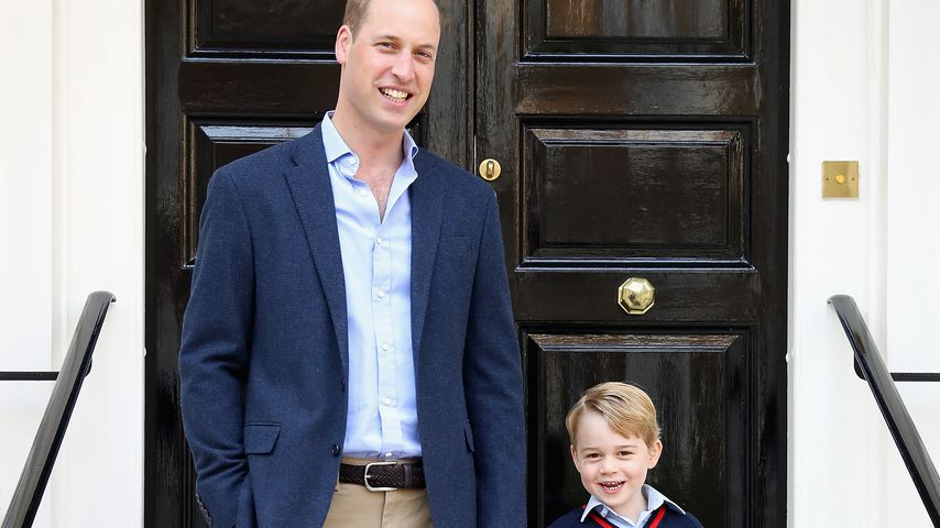 Prinz William und Prinz George in London 2017