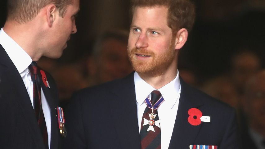 Prinz William und Prinz Harry am Anzac Day