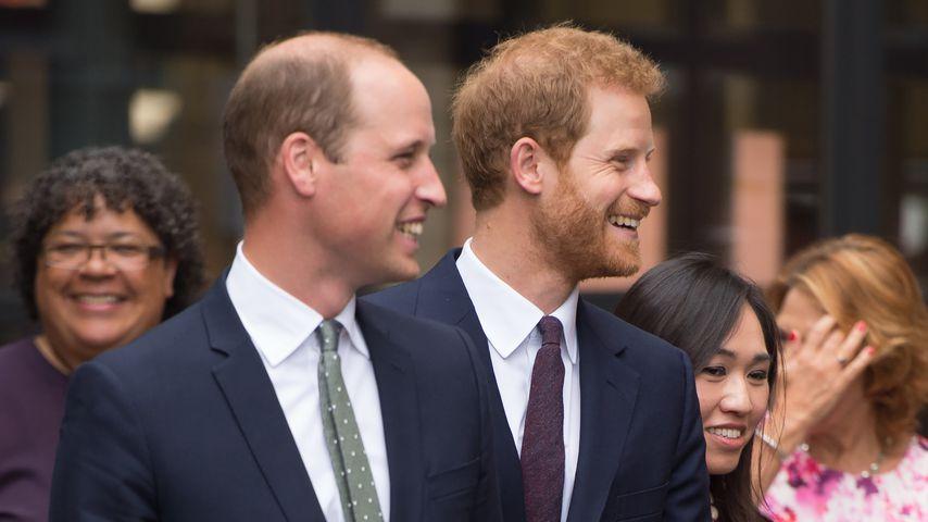 """Prinz William und Prinz Harry bei ihrem """"Support4Grenfell Community Hub""""-Besuch"""
