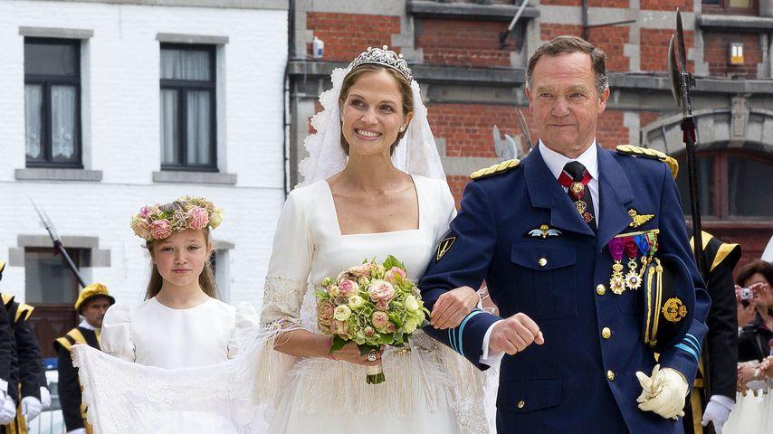 Prinzessin Alix de Ligne mit ihrem Vater Fürst Michel de Ligne