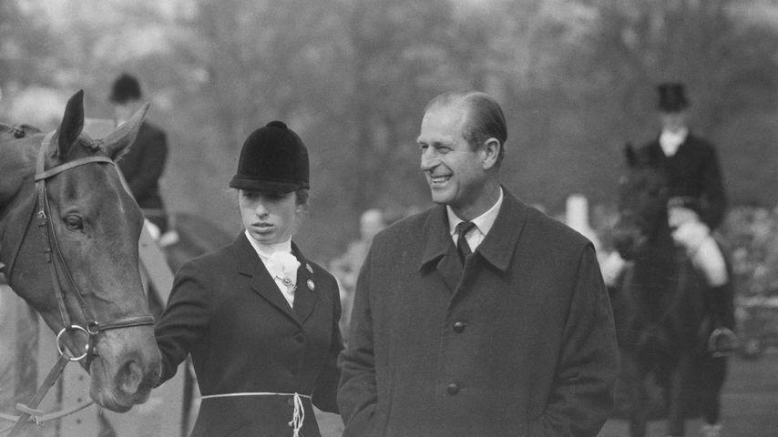 Prinzessin Anne und Prinz Philip 1971 bei einem Reitsport-Event