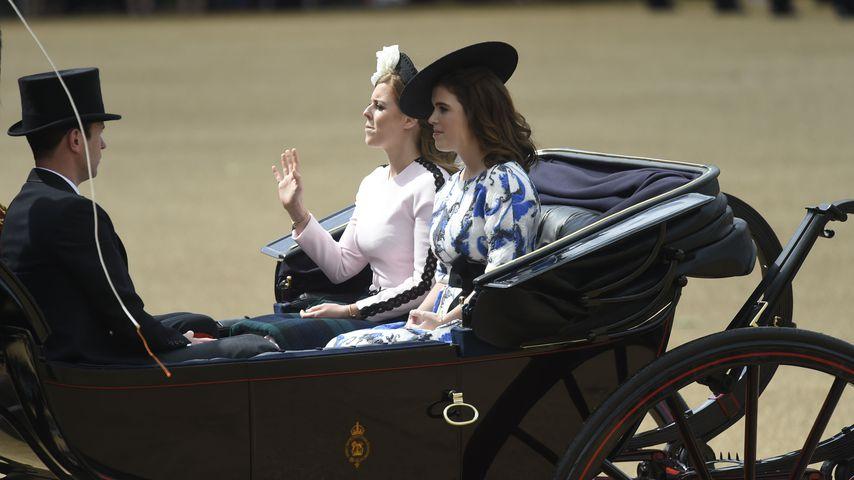 Prinzessin Beatrice, Prinzessin Eugenie und Jack Brooksbank beim Trooping the Colour-Event