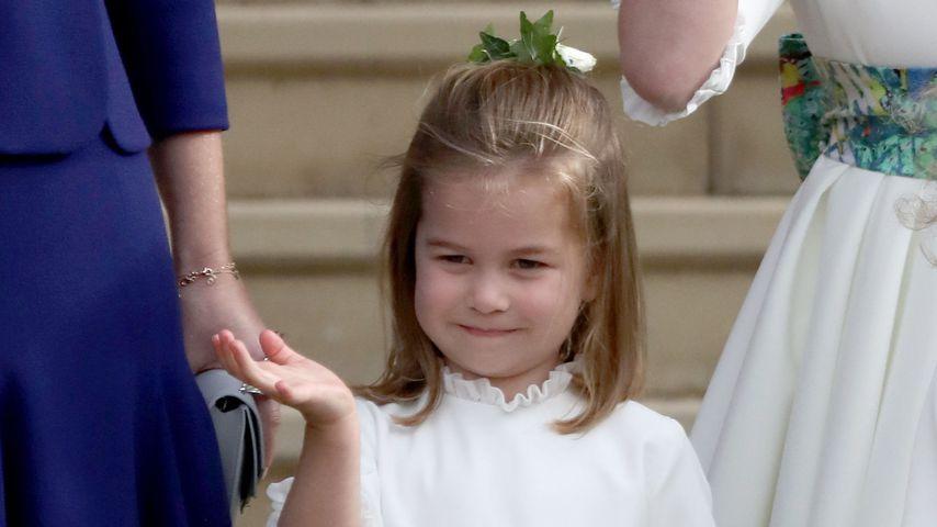 Prinzessin Charlotte bei der Hochzeit von Prinzessin Eugenie