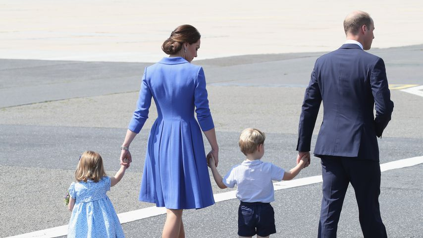 Prinzessin Charlotte, Herzogin Kate, Prinz George und Prinz William im Juli 2017