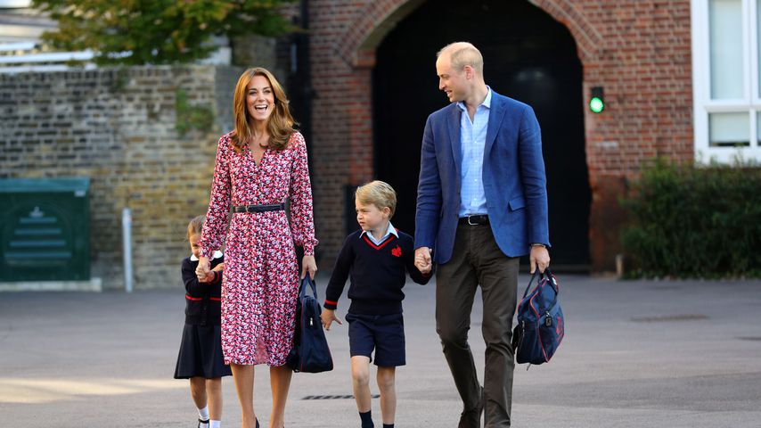 Prinzessin Charlotte, Herzogin Kate, Prinz George und Prinz William