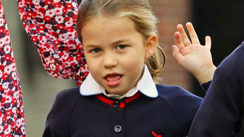 Prinzessin Charlotte an ihrem ersten Schultag