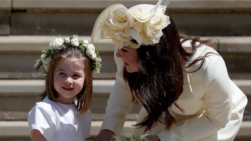 Prinzessin Charlotte und Herzogin Kate bei der Hochzeit von Prinz Harry und Herzogin Meghan 2018