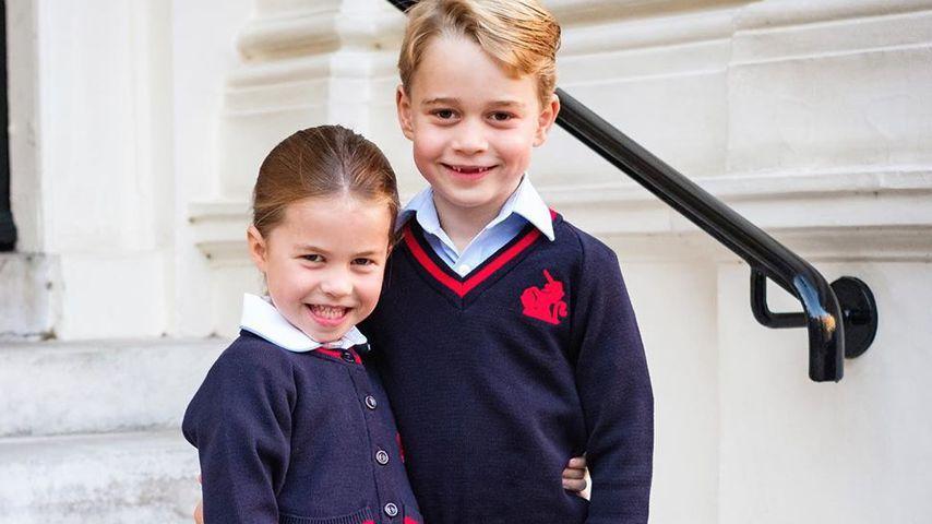 Prinzessin Charlotte und Prinz George an ihrem ersten Schultag im September 2019