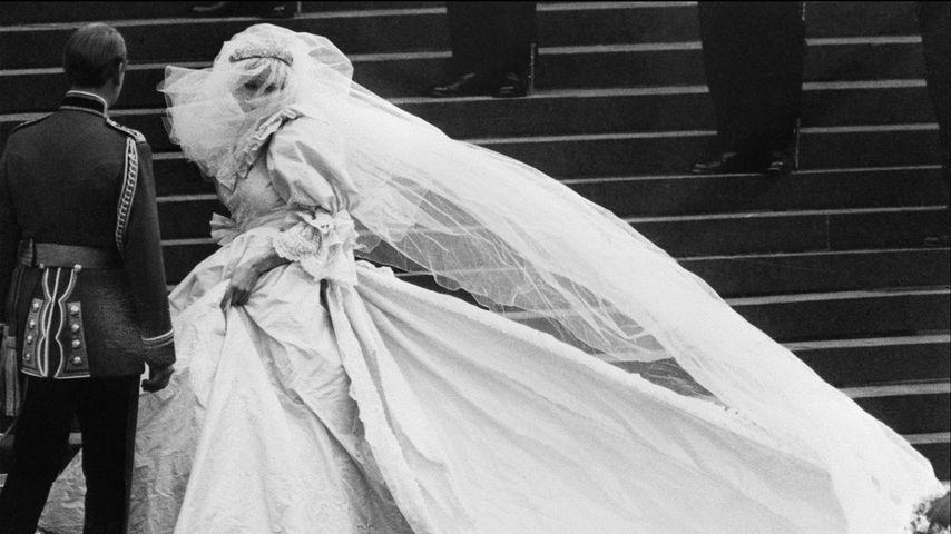 Prinzessin Diana an ihrem Hochzeitstag, 1981