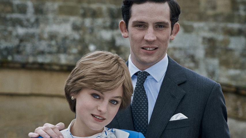 "Prinzessin Diana (Emma Corrin) und Prinz Charles (Josh O'Connor) in ""The Crown"""