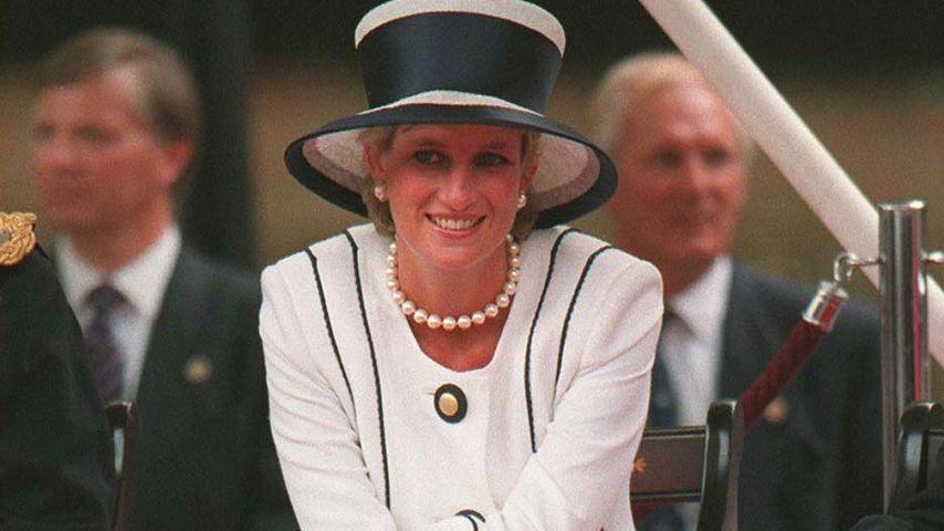 Prinzessin Diana in London im August 1995