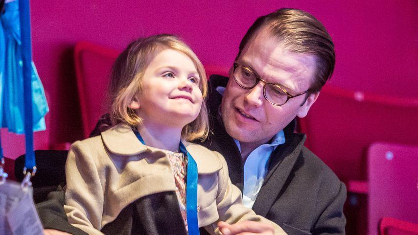 Prinzessin Estelle und Prinz Daniel von Schweden bei der ISU Eiskunstlauf-Europameisterschaft