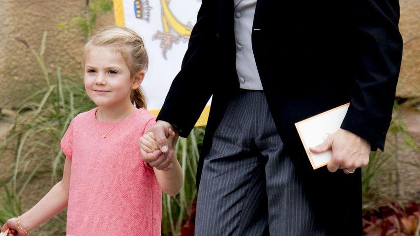 Prinzessin Estelle und Prinz Daniel an der Taufe von Prinz Alexander in Stockholm