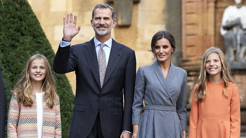 Prinzessin Leonor, König Felipe VI, Königin Letizia und Prinzessin Sofia von Spanien