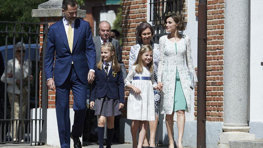 Prinzessin Letizia, Prinz Felipe von Spanien, Prinzessin Leonor von Spanien, Prinzessin Sofía von Sp