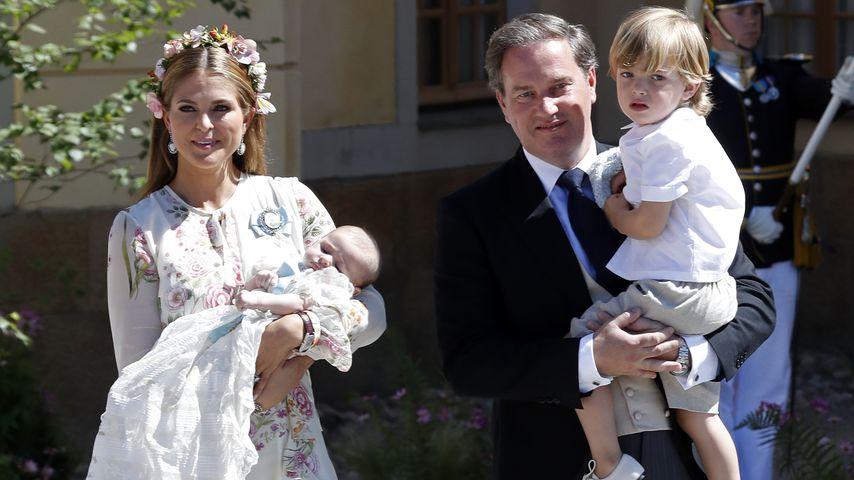 Prinzessin Madeleine und Chris O'Neil mit ihren Kindern Adrienne, Leonore und Nicolas