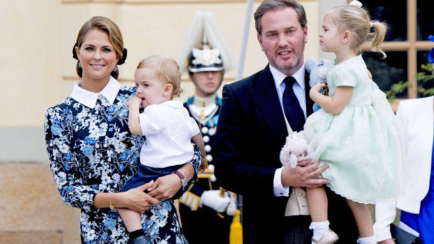 Prinzessin Madeleine mit Prinz Nicolas, Ehemann Christopher O'Neill und Prinzessin Leonore