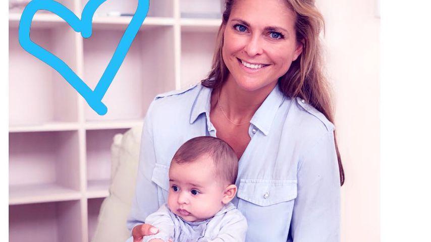 Prinzessin Madeleine von Schweden und ihre Tochter Adrienne im Juli 2018