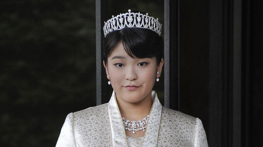 Prinzessin Mako vor dem Palast in Tokyo