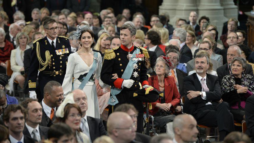 Mary & Frederik 2013 bei der Krönung von Willem Alexander zum König der Niederlande