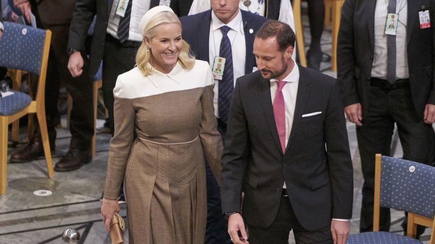 Prinzessin Mette-Marit und Prinz Haakon im Dezember 2018 in Oslo