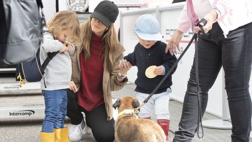 Prinzessin Sofia mit ihren Söhnen Prinz Alexander und Prinz Gabriel