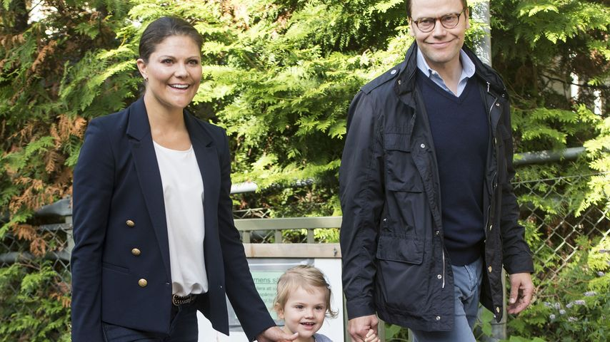 Prinzessin Victoria, Ehemann Prinz Daniel und Töchterchen Estelle