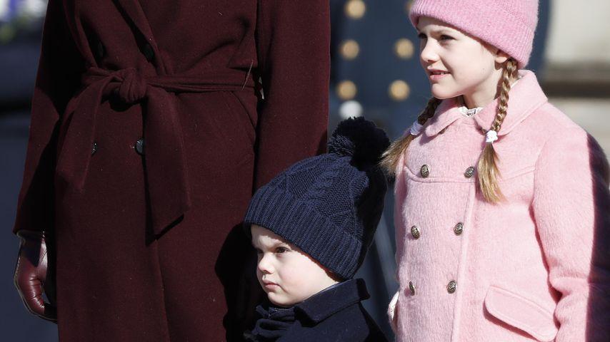 Prinzessin Victoria mit Oscar und Estelle