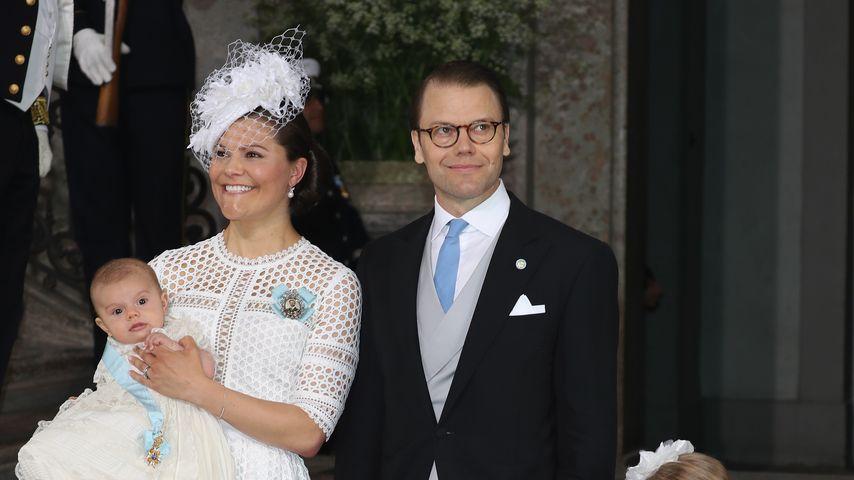 Prinzessin Victoria und Prinz Daniel mit ihren Kindern Prinz Oskar und Prinzessin Estelle