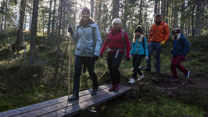 Prinzessin Victoria von Schweden während einer Wanderung durch den Skuleskogen National Park