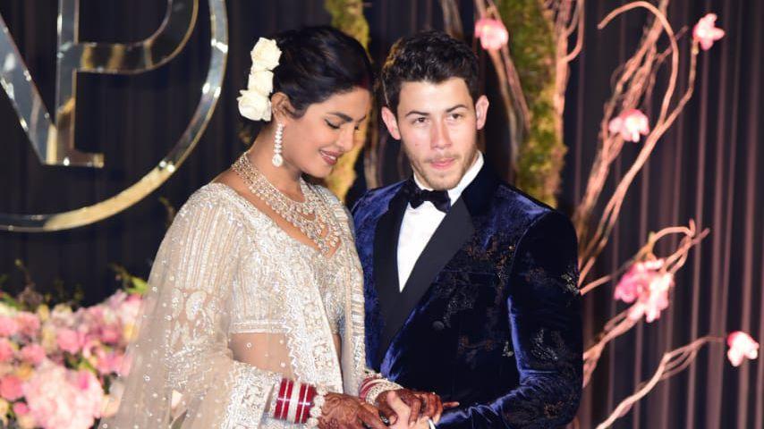 Priyanka Chopra und Nick Jonas bei ihrem Hochzeitsempfang