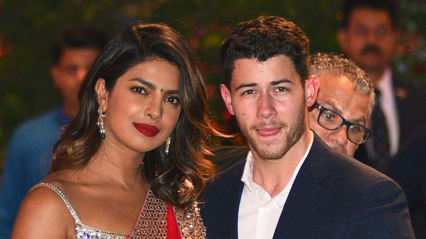 Priyanka Chopra und Nick Jonas bei einer Verlobungsgparty in Indien
