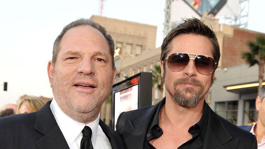 Produzent Harvey Weinstein und Schauspieler Brad Pitt im Jahr 2009