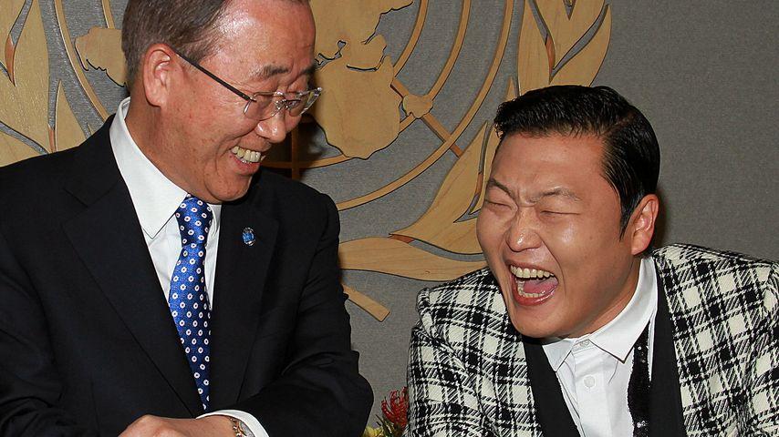 Psy tanzt Gangnam-Style mit UN-Generalsekretär